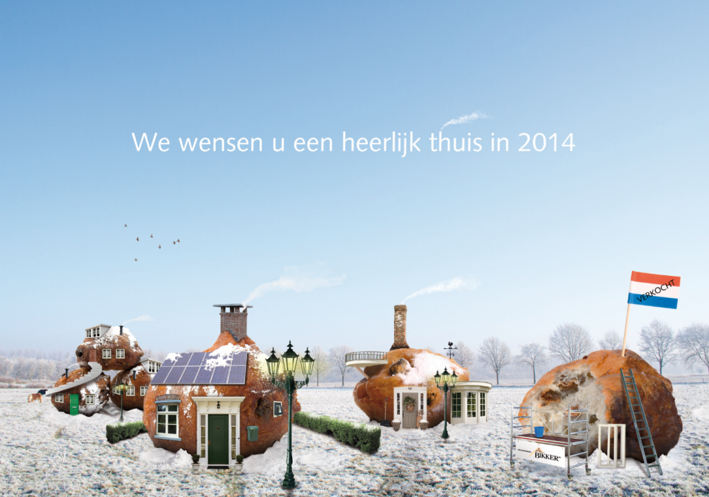 Nieuwjaarskaart Bikker 2014 voorkant