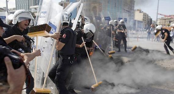 Politie Turkijke Taksimplein