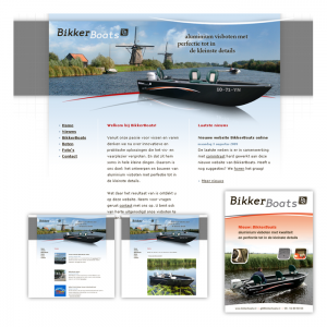 Website en advertenties BikkerBoats