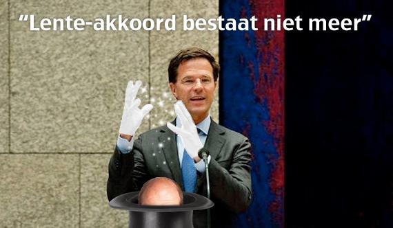 Lente-akkoord bestaat niet meer, Rutte